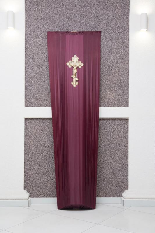 Гроб бордовый шелк GD-1-shelk