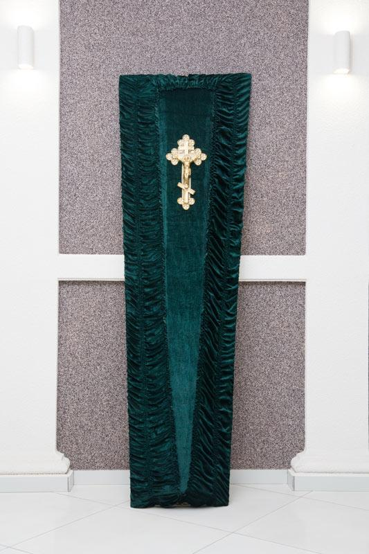 Гроб зеленый бархат GD-20-barhat