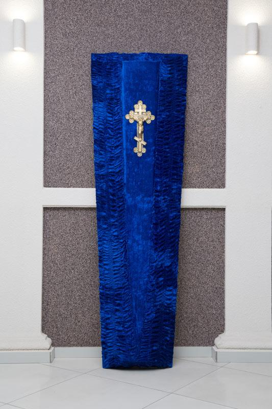 Гроб синий бархат GD-21-barhat
