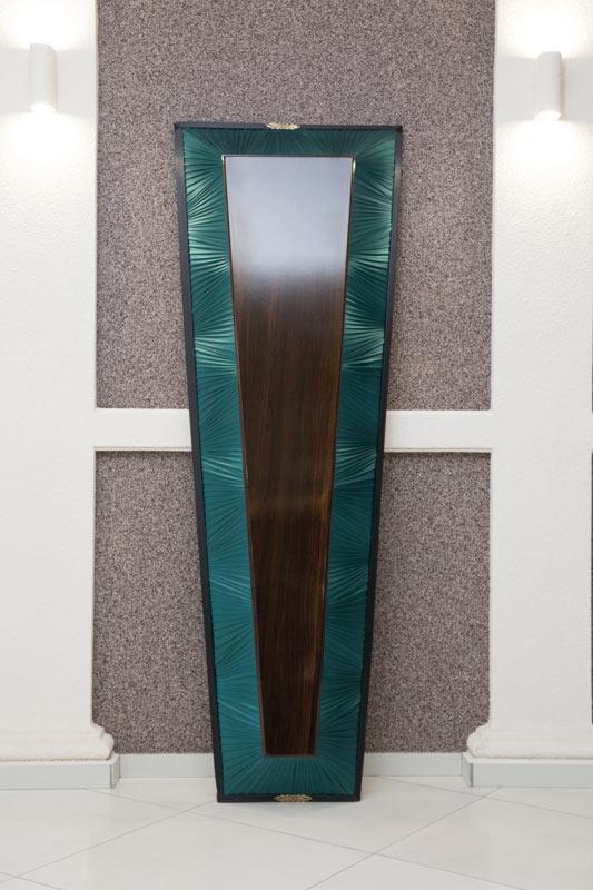 Гроб лак + драпировка зеленый GLD-1
