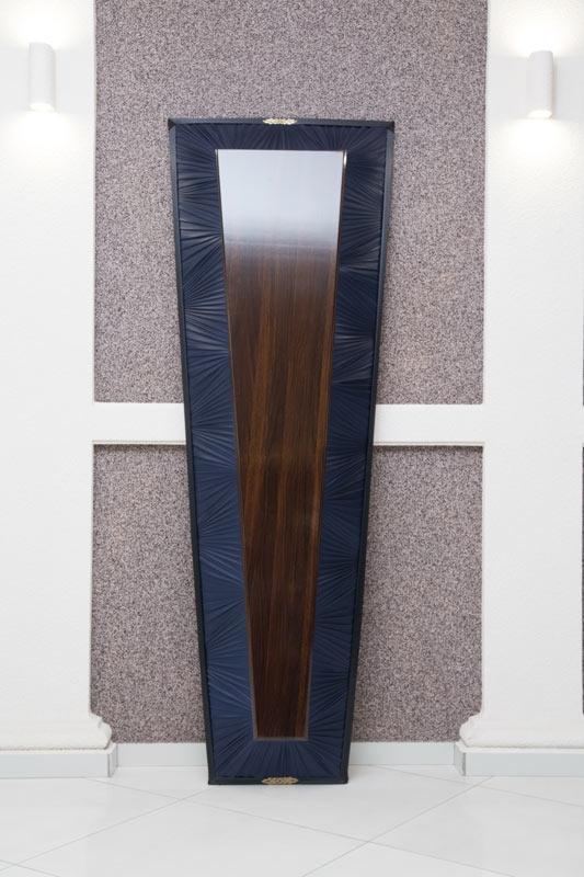 Гроб лак + драпировка темно-синий