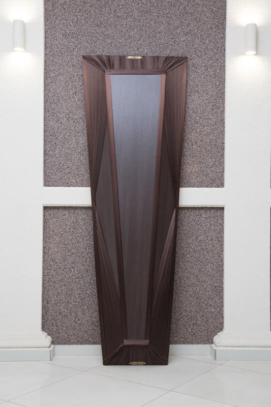 Гроб лак + драпировка коричневый GLD-5