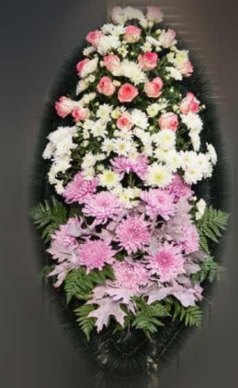 Венок из живых цветов 1