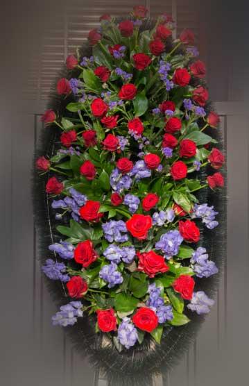Венок из живых цветов 20