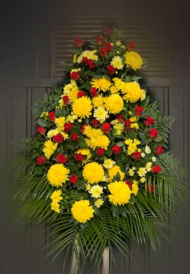 Венок из живых цветов 3